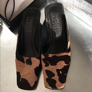 Franco Sarto animal print mule heel